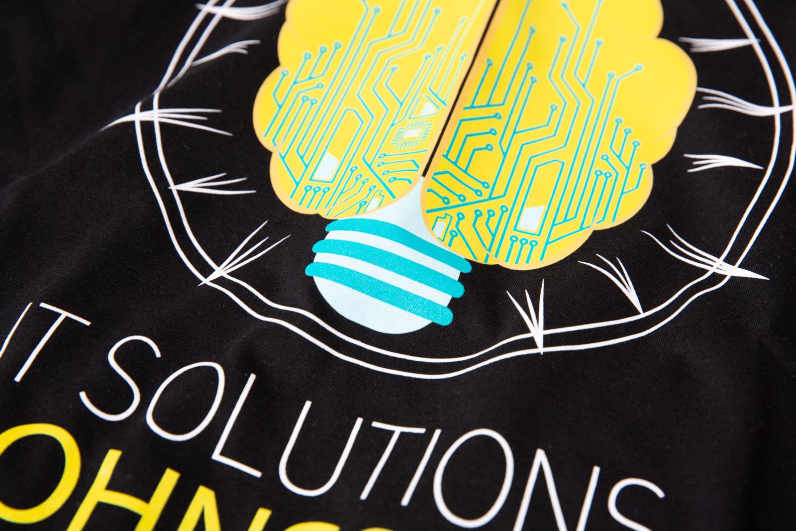 Eksempel på firmalogo trykket med silketrykk