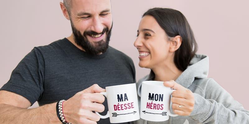 Personnalisez des cadeaux couples