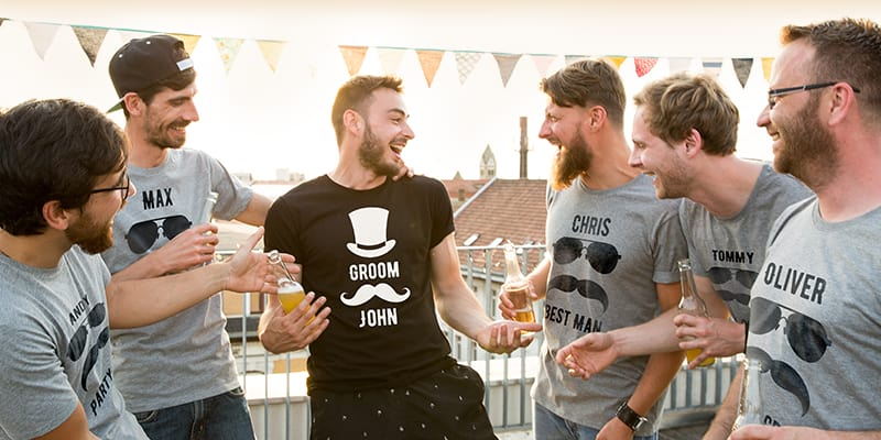 Personalised stag do T-shirts - banner image