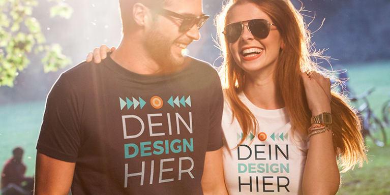 T-Shirts bedrucken mit Designs, Text oder Fotos
