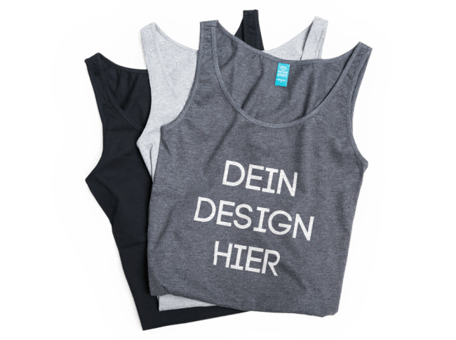 tank top bedrucken tops selbst gestalten spreadshirt. Black Bedroom Furniture Sets. Home Design Ideas