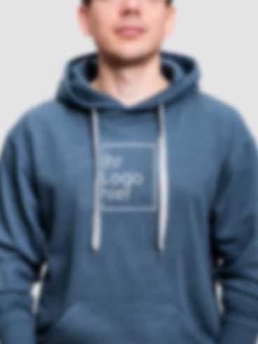 Personalisierter Hoodie mit einem Stick Motiv