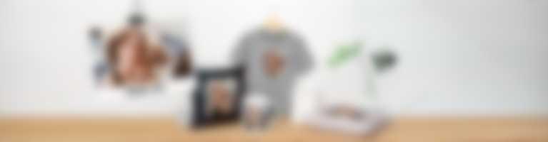 Forskjellige produkter som personaliserte fotogaver