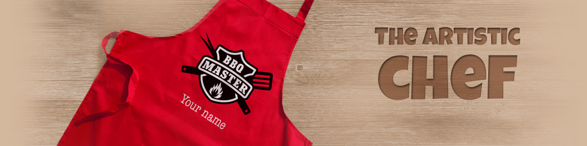 Personalised aprons banner