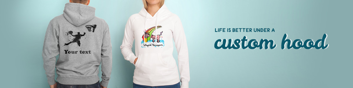 Design your own personalised hoodies