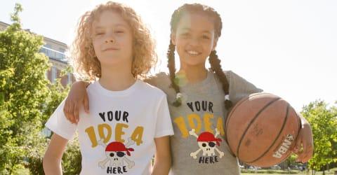 Personalised Mens Kids Tshirt Custom Text Printed Boy Girl Stag Top Tee T-Shirt