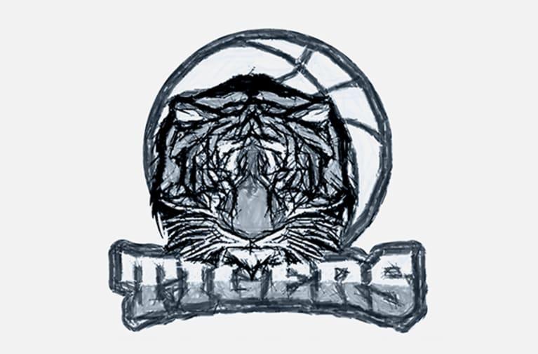 Beispiel eines gezeichneten Team Logos