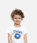 Kid with personalised T-shirt
