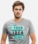 Man with personalised T-shirt