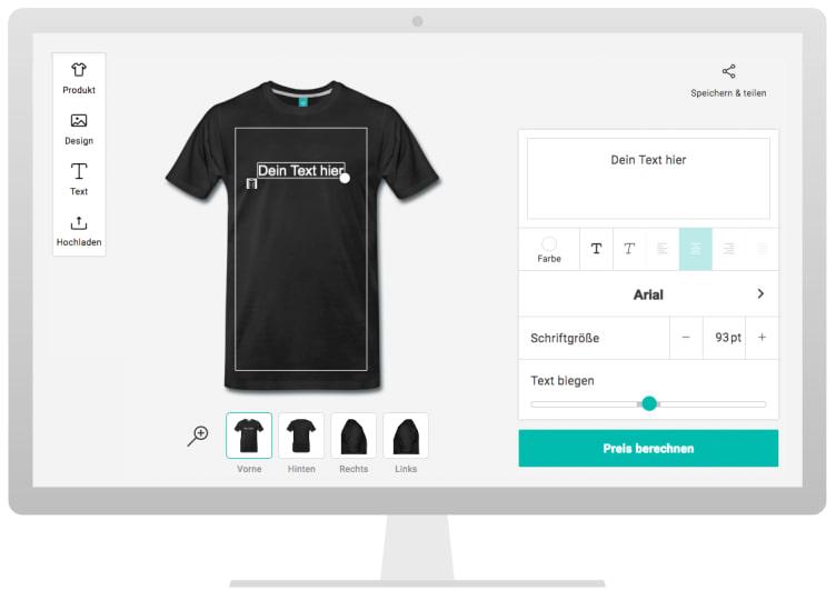Eigenes Shirt Designen   T Shirts Bedrucken T Shirt Druck Online Spreadshirt