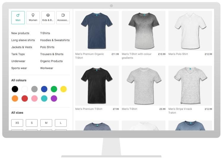 2e1d8907c89b2 Personalised T-Shirts & Custom T-Shirt Printing | Spreadshirt UK