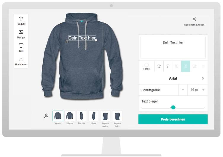 premium selection a3db5 164bd Pullover & Hoodies bedrucken lassen, ohne Mindestbestellwert ...
