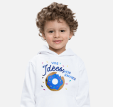 Un enfant avec un pull personnalisé