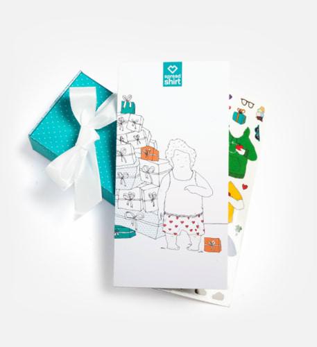 Ein Geschenkpaket, das einen Gutschein beinhaltet