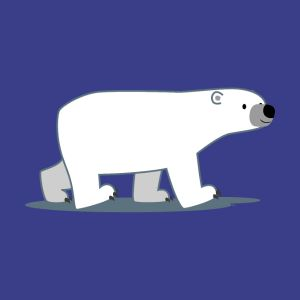 walking cartoon polar bear cheerful madness shirts