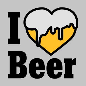 i love beer heart