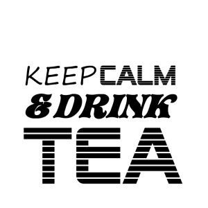 tasse tricolore keep calm drink tea