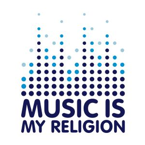music is my religion mug