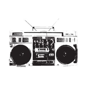 ghetto blaster vintage for oldschool hiphop