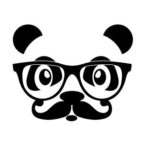 nerd panda with moustache and glasses t shirts