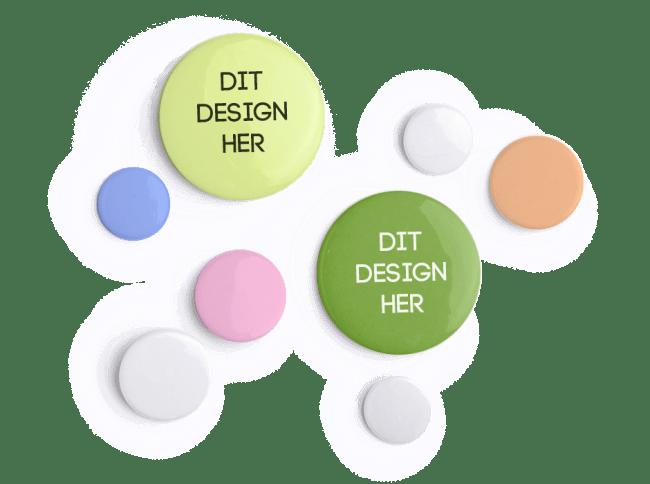 67c46106 Badges med besked: Design selv individuelle badges