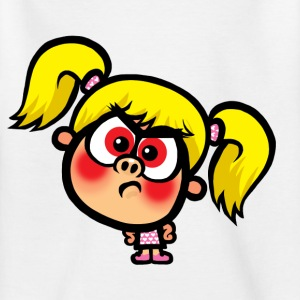 White Angry Stacey Kid's Shirts  - Teenage T-shirt