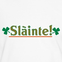 White/black slainte Men's Tees