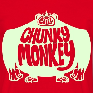 Red Chunky Monkey Men's Tees - Men's T-Shirt
