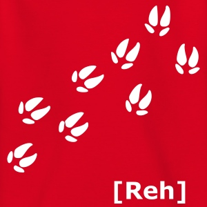 Rot Pfoten - Spuren Kinder T-Shirts - Teenager T-Shirt
