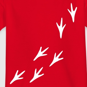 Rot Pfoten - Spuren - Vogel Kinder T-Shirts - Teenager T-Shirt