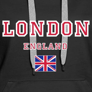 Black London, England Jumpers  - Women's Premium Hoodie