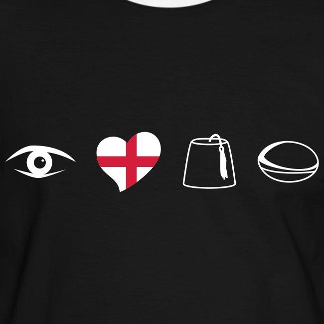 Men's English Sarries Slim Contrast Tee