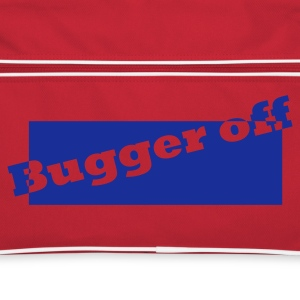 Rood/wit Bugger Off in box Tassen - Retro-tas