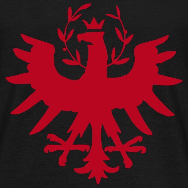 Tiroleradler Schwarz, Flockdruck Rot