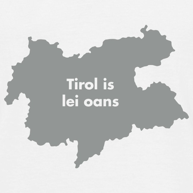 Tirol is lei oans, Flockdruck Weiß