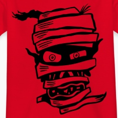 Red Mummy Head Kid's Shirts
