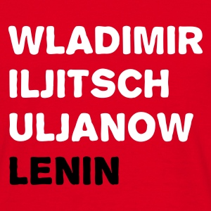 Red Wladimir Iljitsch Uljanow Lenin Men's Tees - Men's T-Shirt