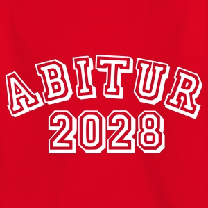 Rot Abitur 2028 - Baby Kinder T-Shirts - Teenager T-Shirt