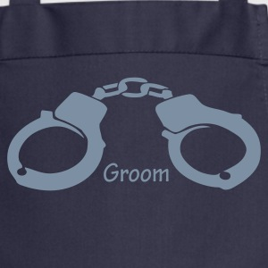 Navy Groom Handcuffs (wedding, stag)  Aprons - Cooking Apron