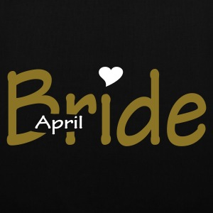 Black April Bride (wedding, honeymoon) Bags  - Tote Bag