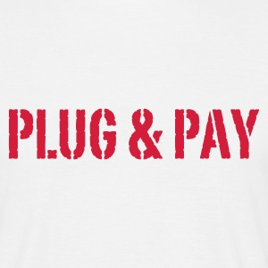 Weiß Plug & Pay© T-Shirts - Men's T-Shirt