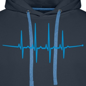 Navy beats for the masses Pullover - Männer Premium Hoodie