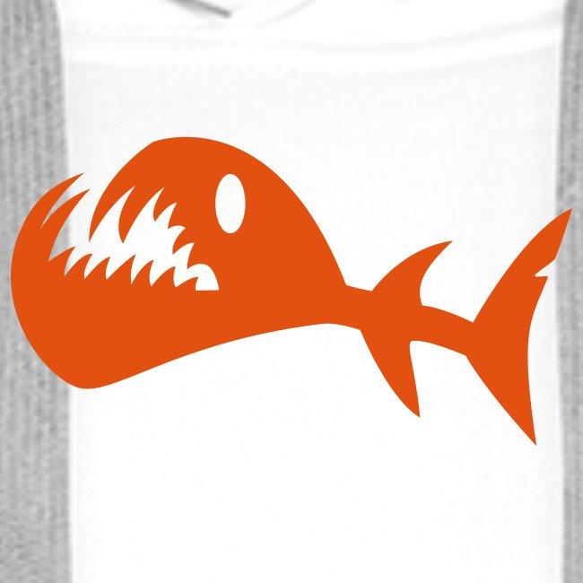 Kampf Fisch Kapuzenjacke