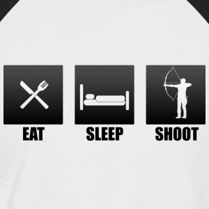 eat sleep shoot recurve blank - Männer Baseball-T-Shirt