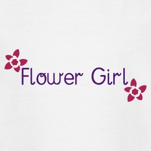 White Flower Girl (wedding) Kid's Shirts  - Teenage T-shirt