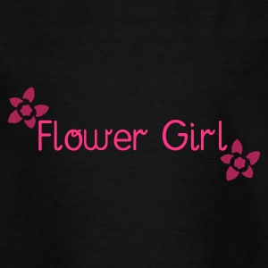 Black Flower Girl (wedding) Kid's Shirts  - Teenage T-shirt