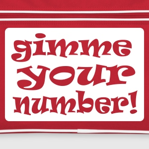 Red/white gimme your number in box Bags  - Retro Bag