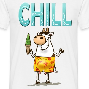White Chill Cow Men's Tees - Men's T-Shirt