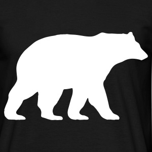 Bear walking Tee shirts - T-shirt Homme