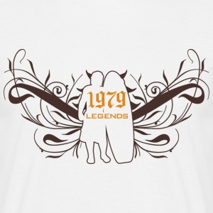 Blanc 1979 legends T-shirts - T-shirt Homme
